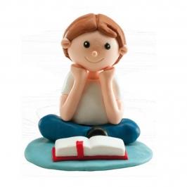 Figura Niño Comunión Sentado 8 cm