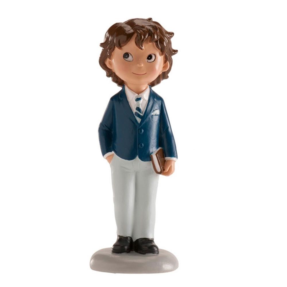 Figura Niño Comunión Traje Azul 13 cm