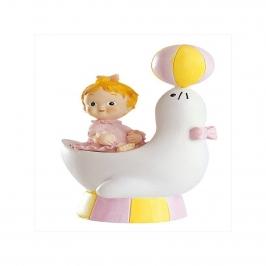 Figura para tarta niña bautizo en foca