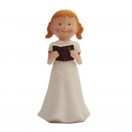 Figura para tarta niña con biblia 15cm