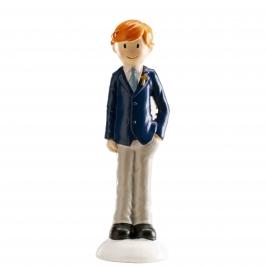 Figura para tarta niño de comunión moderno 13 cm