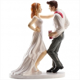 Figura para Tarta Novios Bailando 16 cm