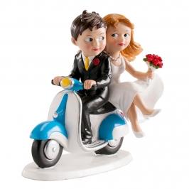 Figura para tarta novios en moto 13 cm