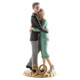 Figura para tarta pareja 50 aniversario 20cm
