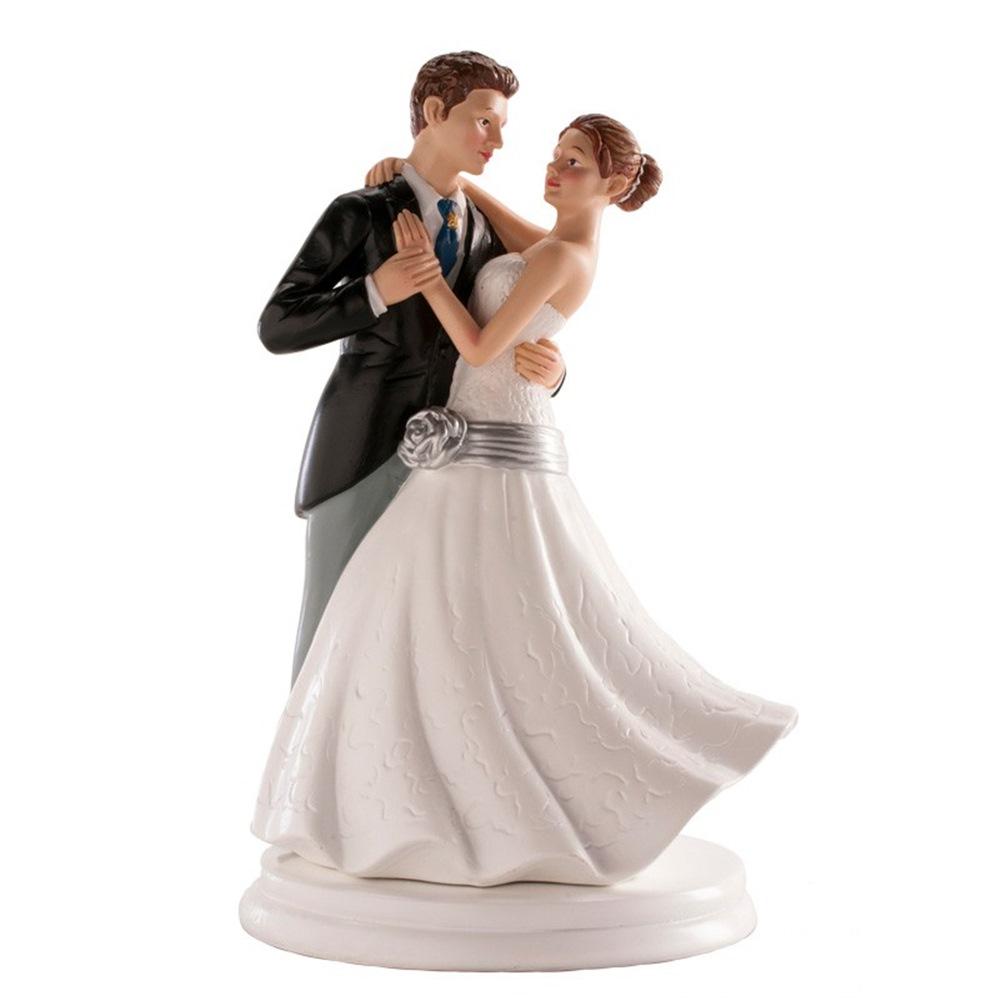 Figura para Tarta Pareja de Boda Bailando 20 cm
