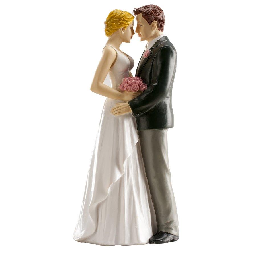 Figura para tarta pareja de boda enamorados 16cm