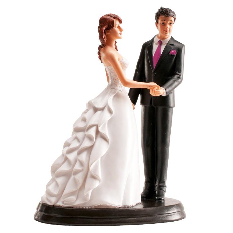 Figura para tarta Pareja de Boda romántica 20cm