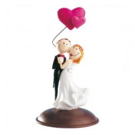 Figura para tarta pareja de novios con corazón