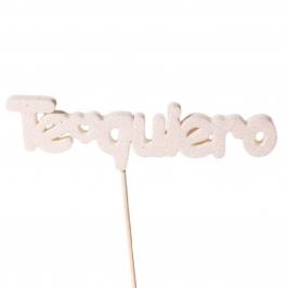 Figura para tarta Te Quiero blanco - My Karamelli