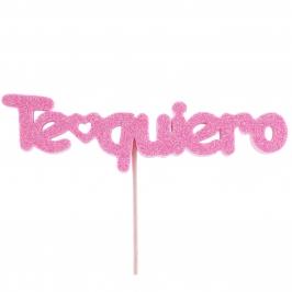 Figura para tarta Te Quiero rosa - My Karamelli