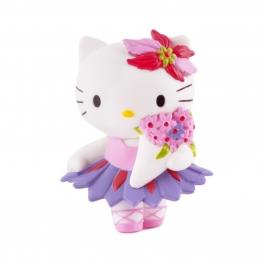 Figura para tartas Hello Kitty con ramo de flores - My Karamelli