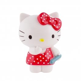 Figura para tartas Hello Kitty con vestido rojo y lunares blancos - My Karamelli