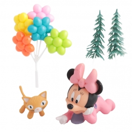Kit para Decorar Tartas Minnie Bebé