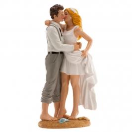 Figura Pareja de Boda Playa 16 cm