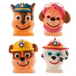 Figuras comestibles Patrulla Canina 4 unidades