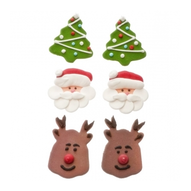 Figuras de azúcar navideñas