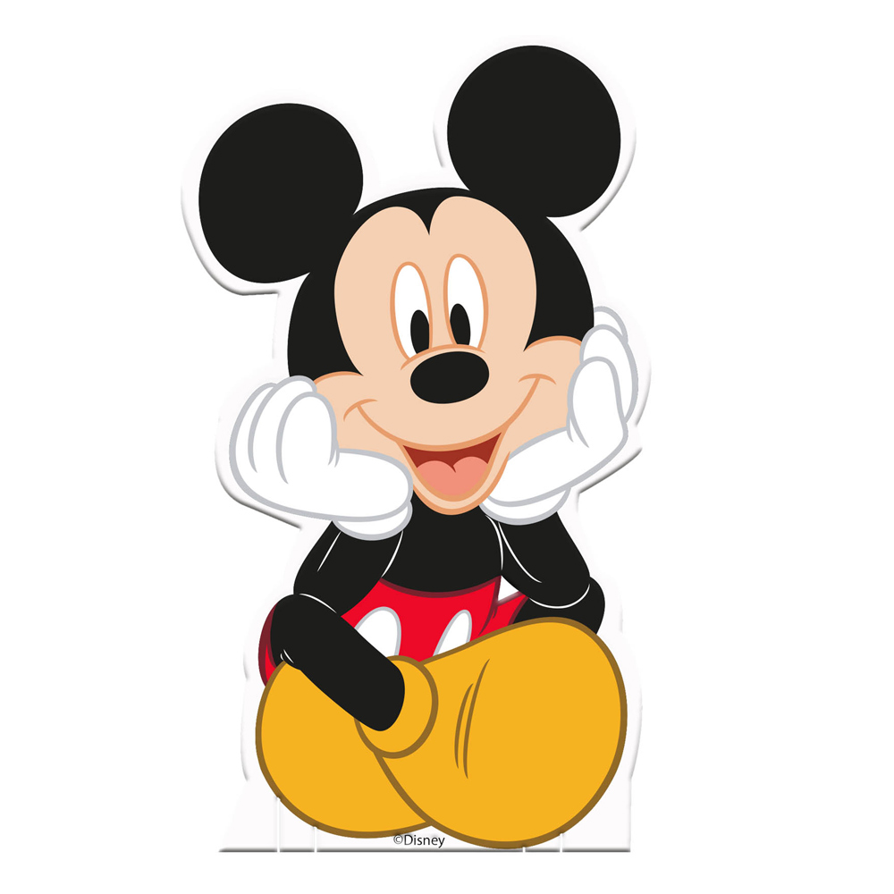 Pack De 4 Siluetas Decorativas Mickey Mouse 15 Cm