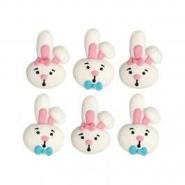 Decoraciones de Azúcar Conejos 6 ud