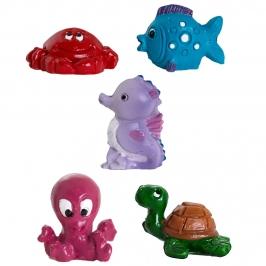 Figuritas Roscón de Reyes Animales Marinos 5 unidades