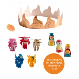 Figuritas Roscón de Reyes Super Wings 6pcs