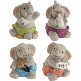 Figuritas Roscón de Reyes Elefantes Baby 4 ud