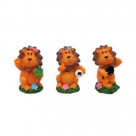 Figuritas Roscón de Reyes Leones 3 ud