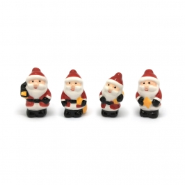 Figuritas Roscón de Reyes Papá Noel 4 ud