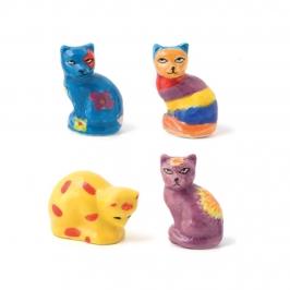 Figuritas Roscón de Reyes Gatos Moda 4 unidades