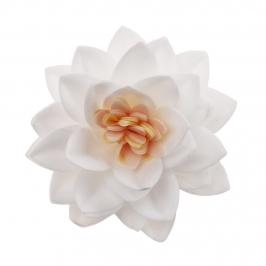 Flor de Loto Oblea Blanca 7 cm 15 ud