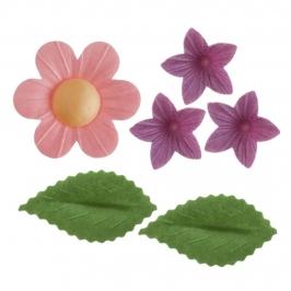 Flores, Miniflores y Hojas de Oblea 38 ud