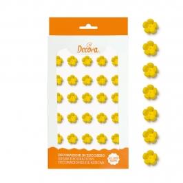Flores Amarillas de Azúcar Pequeñas 30 ud