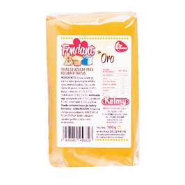 Fondant color Oro Kelmy 100gr - My Karamelli