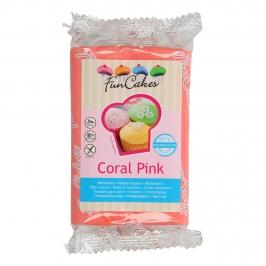 Fondant extra suave en color rosa coral de 250 gramos