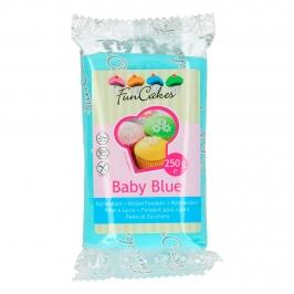 Fondant Azul Bebe 250 gr - FunCakes