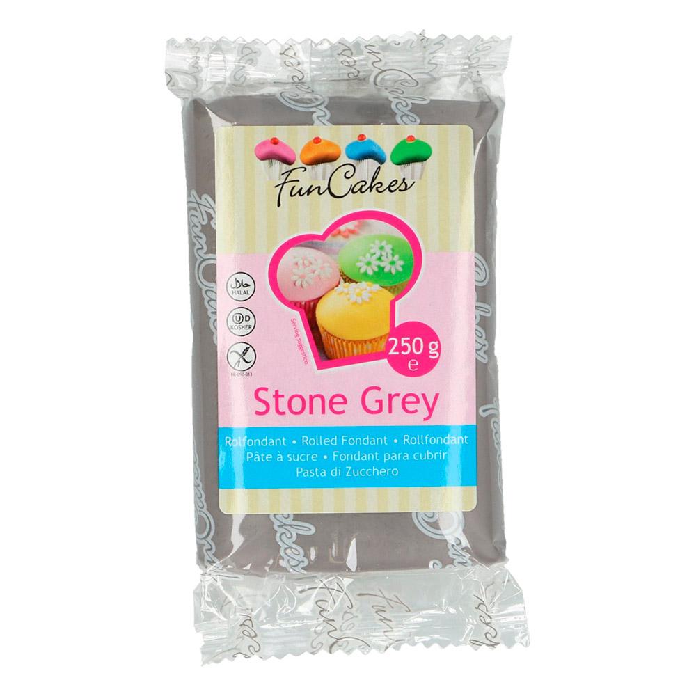 Fondant Funcakes color gris piedra 250 gr