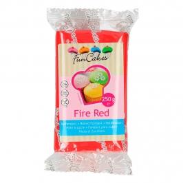 Fondant Funcakes color Rojo Fuego 250gr