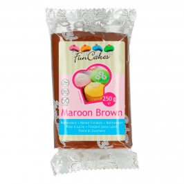Fondant Funcakes marrón chocolate 250 gr