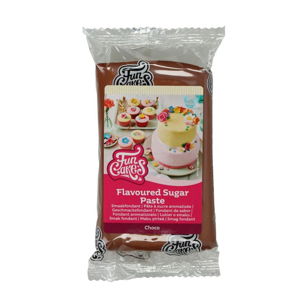 Fondant Marrón sabor Chocolate 250 gr - FunCakes