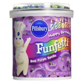 Frosting Violeta de Vainilla con confetti