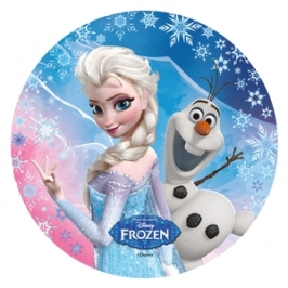Oblea 20cm Elsa y Olaf