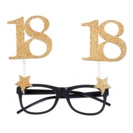 Gafas 18 Cumpleaños Dorado