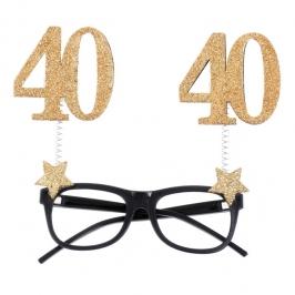 Gafas 40 Cumpleaños Dorado