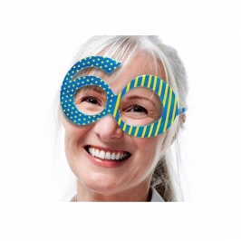Gafas 60 Cumpleaños Azules