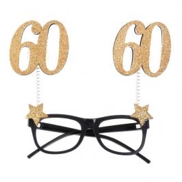 Gafas 60 Cumpleaños Dorado