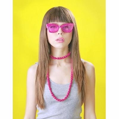 Gafas Rosas con Lunares Negros
