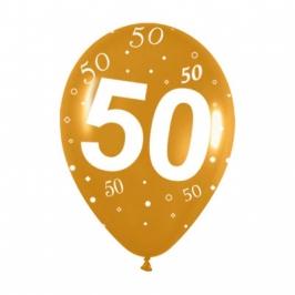 Pack de 12 Globos 50 aniversario