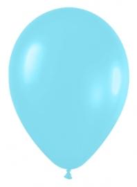 Pack de 10 globos azul caribe satinado