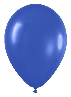 Pack de 10 globos azul real mate