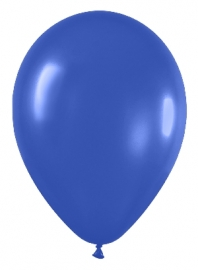 Pack de 10 globos azul real mate