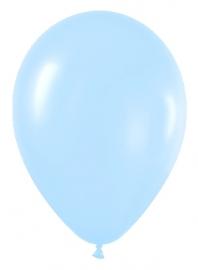 Pack de 10 globos azul satinado